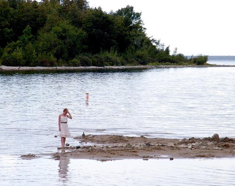 Ken Kendzy - Girl on Beach, Door County