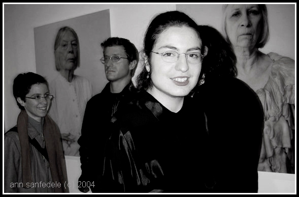 "Artist Pinar Yolacan at the opening of her show ""Perishables"" at the Rivington gallery in New York - December 10th, 2004."