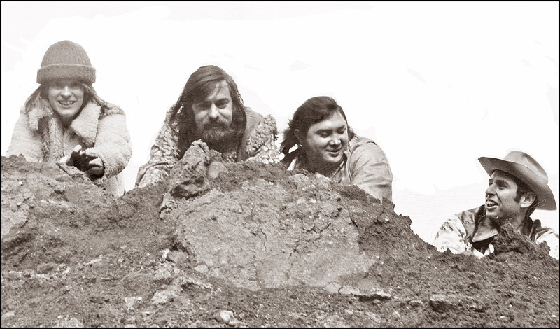 Olduvai Gorge - a scan from an old proof for the poster that hung in Broadway Charly's window when they were<br /> playing there.
