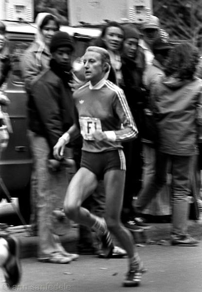 Grete Waitz - running in the 1980 New York City marathon - this was her third win of nine.