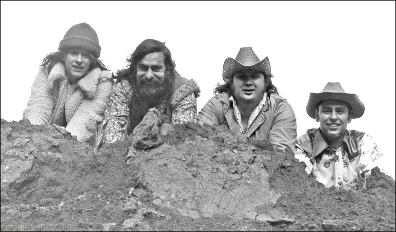 Olduvai Gorge - the music group <p> More from 1974 shoot. Another flatbed scan from an old proof - but I THINK this is the pose that became the actual poster.