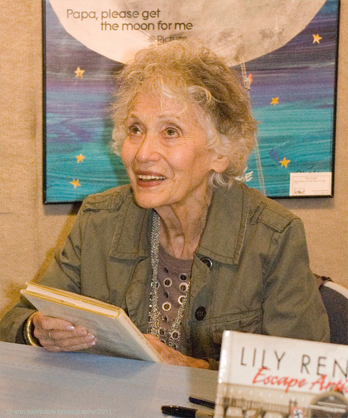 Lily Renee at the book signing of Trina Robbins book about her.
