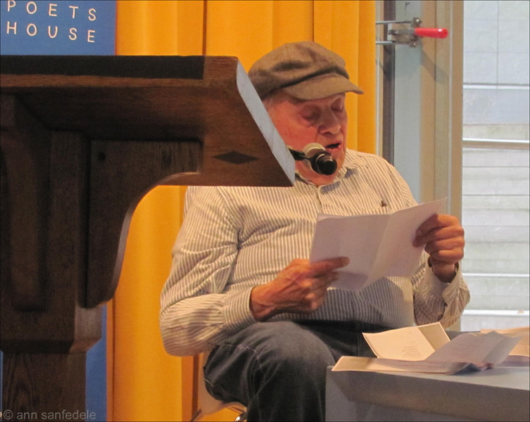 Poet Gerry Stern at the JAmes Wright bio book launch