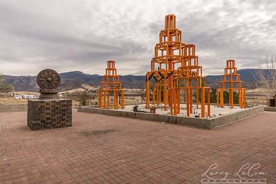 Pagodas under construction