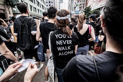 An estimated two million people marching in solidarity for human rights, freedom from violence, and a brighter future for all in Hong Kong. June 16, 2019.