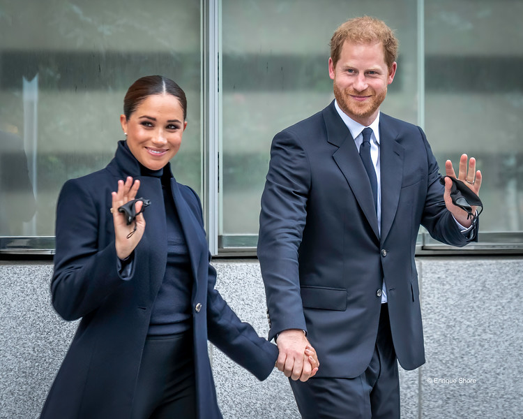 Prince Harry and Megan Markle, the Duke and Duchess of Sussex, New York, USA