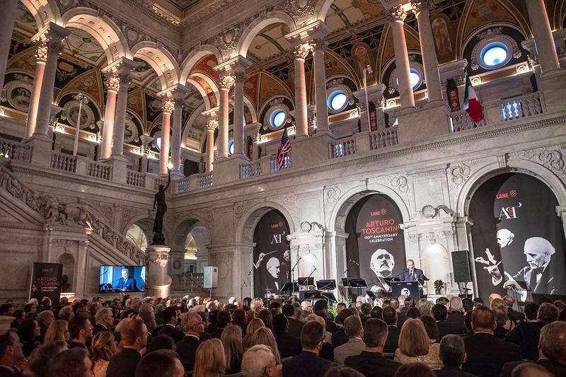 Salini Impregilo's CEO Pietro Salini speaks before a concert at the Library of Congress