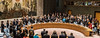 Spanish PM Rajoy and UN Secretary-General Ban Ki-moon attend a meeting of the UN Security Council