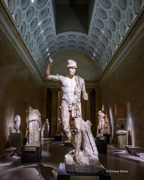 Greek sculptures at the Metropolitan Museum of Art, New York, USA
