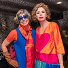 Designers Agatha Ruiz de la Prada and Sarah Raymond pose in New York
