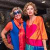 Designers Agatha Ruiz de la Prada and Sarah Raymond pose in New York