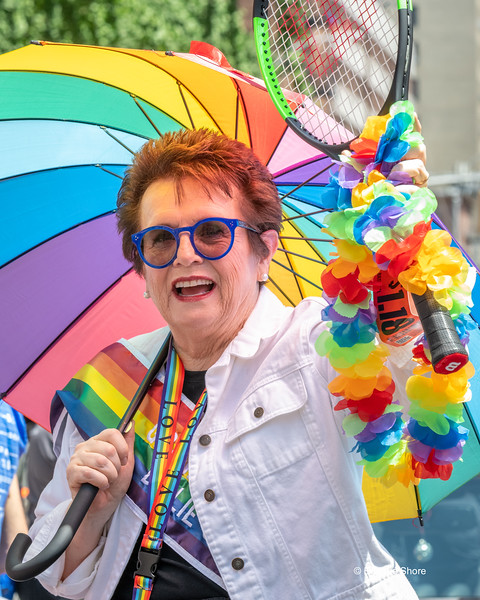 Tennis legend Billy Jean King  is the Grand Marshal of the Pride march in New York City