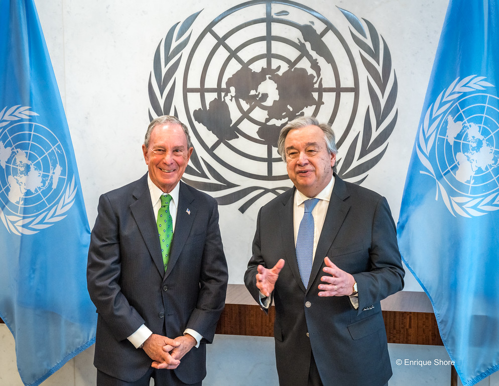 UN Secretary-General Guterres and Special Envoy for Climate Action Bloomberg