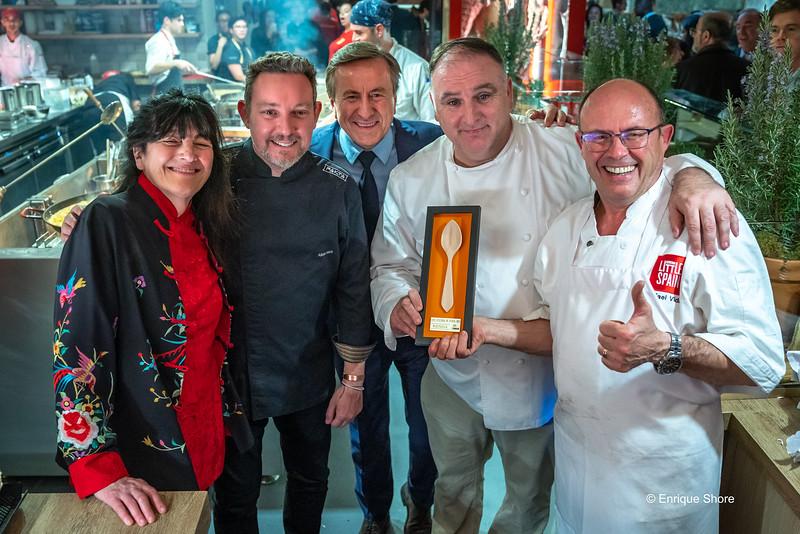 Chefs at inauguration of Spanish Market at Hudson Yards, New York