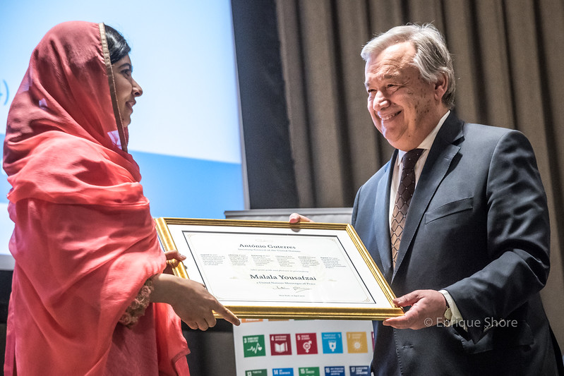 Malala named UN Messenger of Peace by UN Sec-Gral Guterres