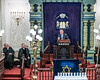 Cardinal Dolan, Rabbi Schneier listens to UN Secretary-General Guterres condemn anti-semitism at a NY Synagogue