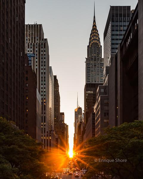 Manhattan Sunset along 42nd Street