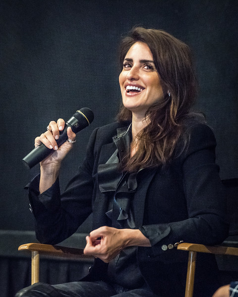 Penélope Cruz laughs after the premiere of Ma Ma in NYC