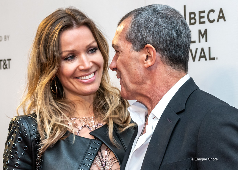 Antonio Banderas and girlfriend Nicole Kimpel at Premiere of Genius: Picasso in New York's Tribeca Film Festival