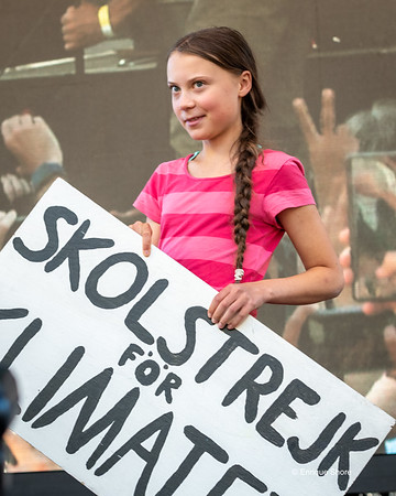 Swedish activist Greta Thunberg at Climate Strike rally, New York,  USA
