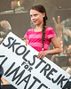 Swedish activist Greta Thunberg at Climate Strike rally, New York,  USA