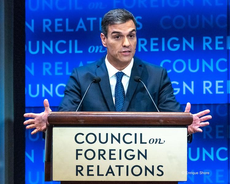 Spanish Prime Minister Sanchez speaks in New York