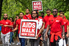 Participants walk in Central Park during the 2018 AIDS Walk New York