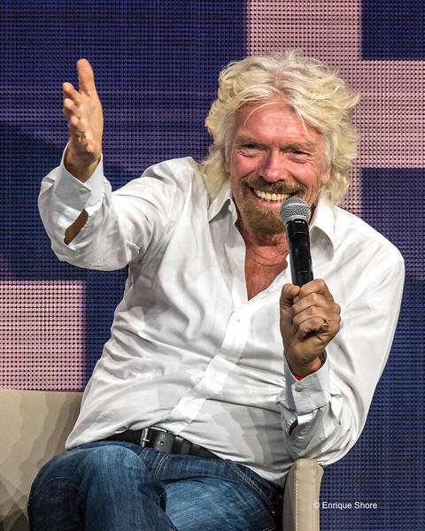 Sir Richard Branson speaks at a conference in New York city