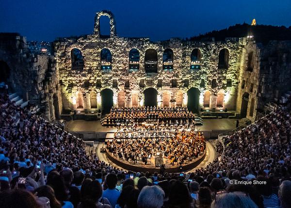 Concert near the Acropolis, Athens, Greece