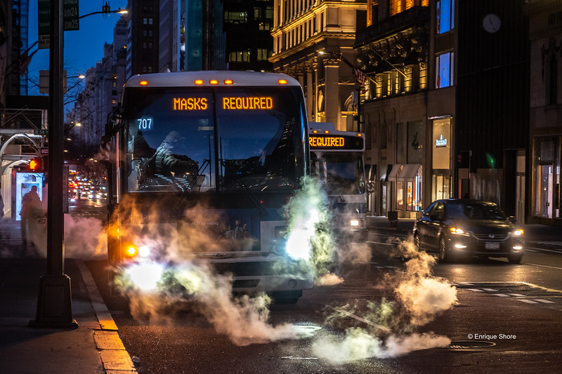 Masks are required to board New York city buses