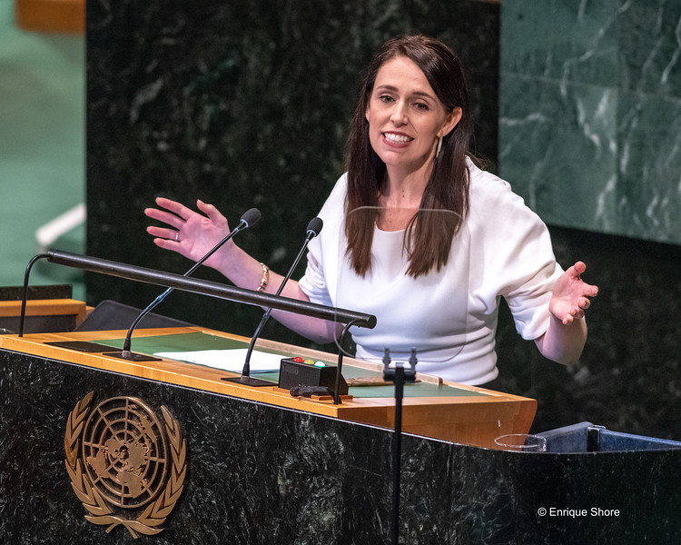 New Zealand PM Ardern addresses the United Nations General Assembly