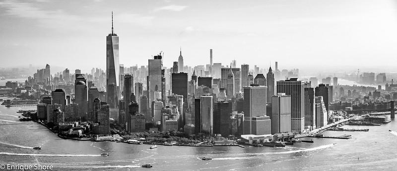 Manhattan Skyline from the air