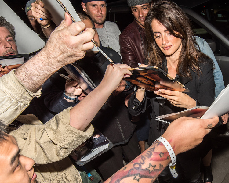 Actress Penélope Cruz signs autograph upon arriving to the premiere of Ma Ma in NYC