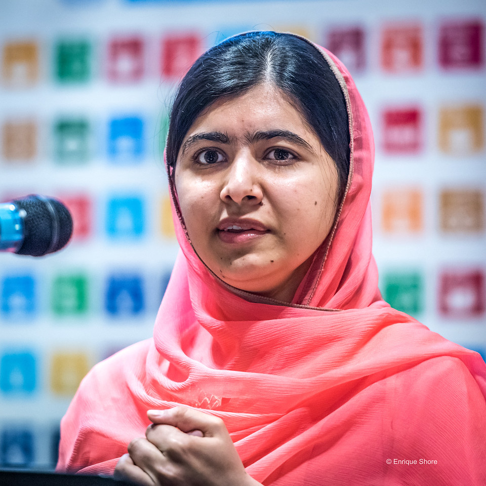 Malala speaks after being named UN Messenger of Peace