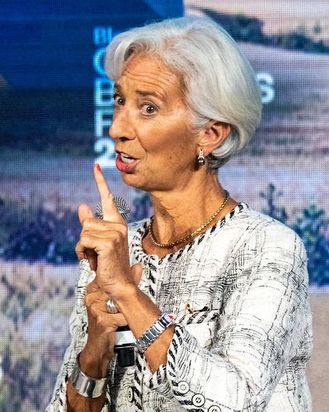 IMF Managing Director Lagarde speaks in New York