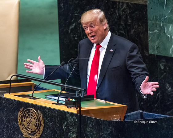 US President Trump addresses the United Nations General Assembly