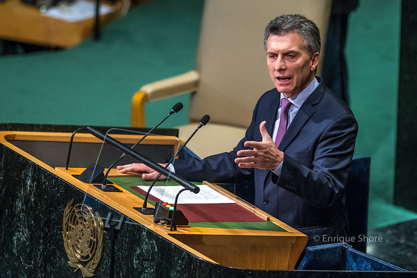 Argentina's President Macri addresses 71st United Nations General Assembly