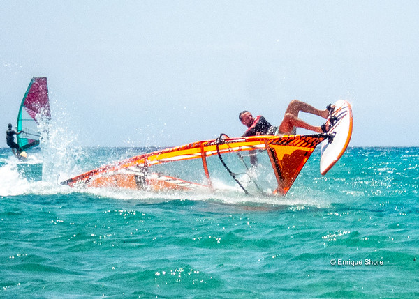 Windsurf in the Mediterranean Sea, Paros, Greece