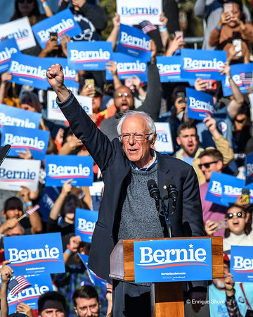 Bernie Sanders at campaign rally in New York