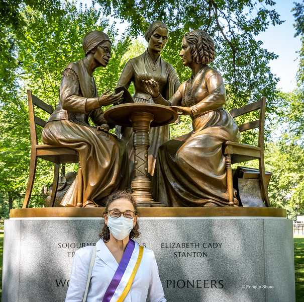 The Women's Rights Pioneers Monument, New York, USA