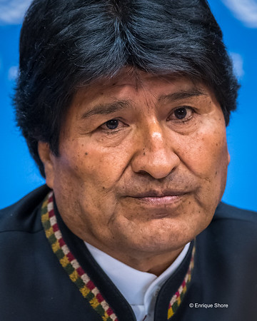 Bolivian President Evo Morales, New York, USA