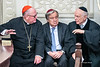 Cardinal Dolan, UN Sec-Gral Guterres and Rabbi Schneier at a tribute for those killed in Pittsburgh's synagogue