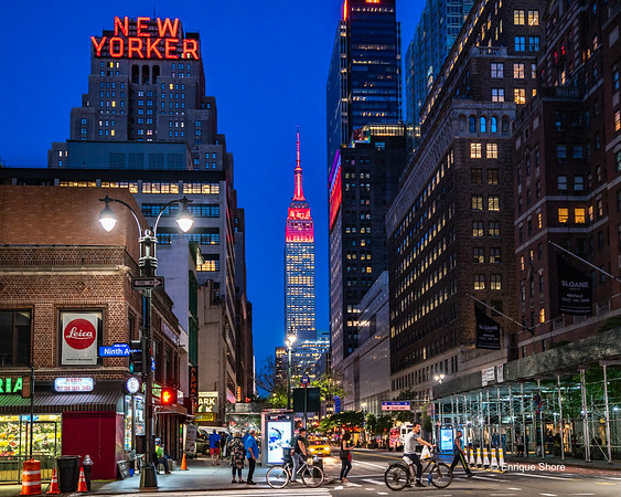 Empire State Building lit in red for Red Nose Day