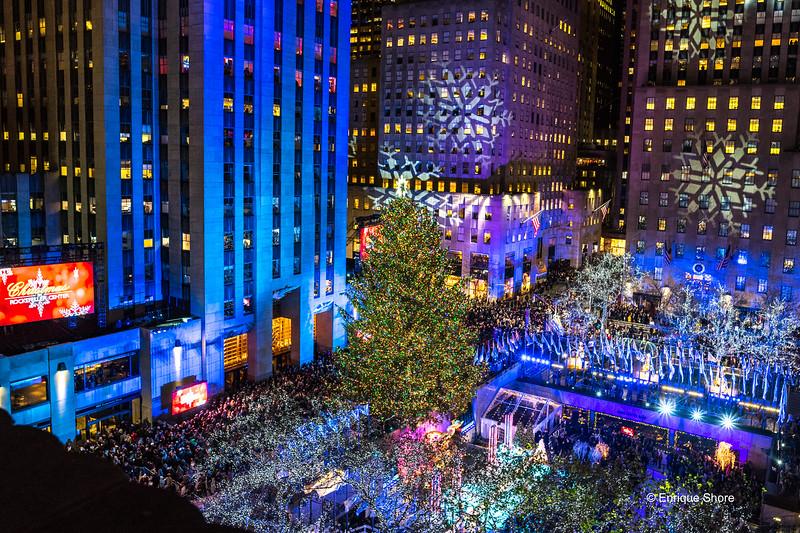 Christmas tree lighting ceremony at New York's Rockefeller Center