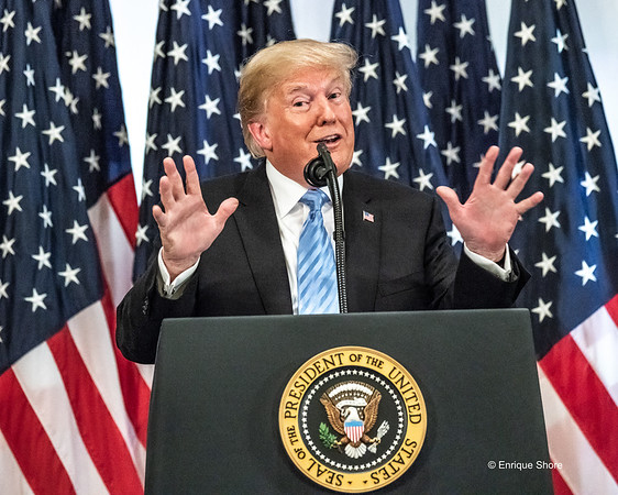 US President Trump at news conference in New York