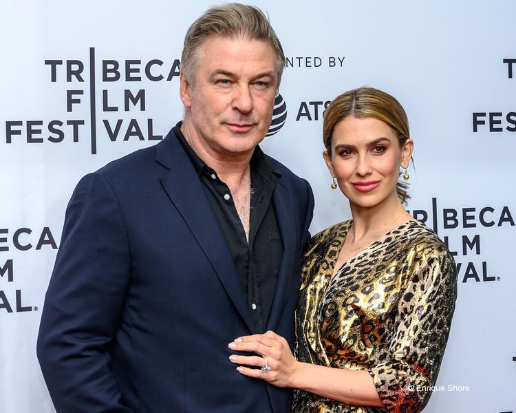Alec Baldwin and wife Hilaria at the 2019 Tribeca Film Festival