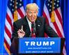 Donald Trump speaks in New York