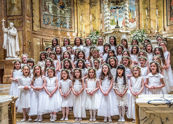 First Communion at New York's St. Ignatius Loyola Church