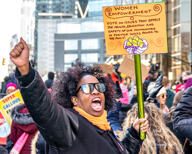 Tens of thousands participate in the Women's March in New York City