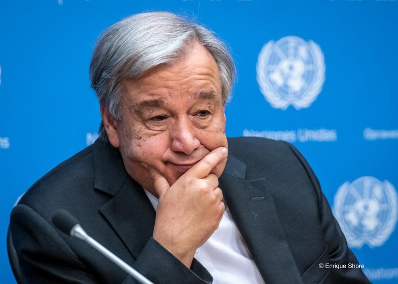 UN Secretary General Antonio Guterres, New York, USA
